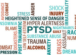 Post Traumatic Stress Disorder affects many people - hypnotherapists can help address the issues